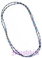jet iris sapphire turq streach necklace - click here for large view