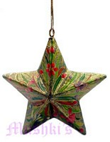 Star shaped Christmas hanging - click here for large view