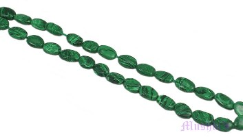 Malachite oval gemstone - click here for large view
