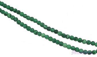 Malachite round gemstone - click here for large view