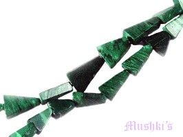 Malachite triangular gemstone - click here for large view